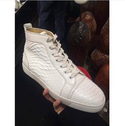 Wholesale new white snakeskin red bottom sneakers men flat Python cl shoes men breathable fashion sneakers Mens high quality