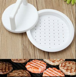 Wholesale Plastic Hamburger Meat Beef Press Burger Grill BBQ Patty Makers Mould Kitchen Cooking DIY Tool White