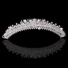 2015 Vintage Hair Accessoies Bridal Crown Tiara Wedding Jewelry Crystal Rhinestone Bridesmaid Hair Band Headpieces Wedding Hair Clips