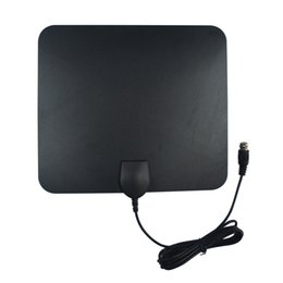 Wholesale 35 Miles UltraThin Indoor Amplified Indoor HDTV Antenna UHF MHz Design High Gain hot sale A