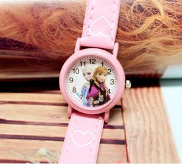 Wholesale 2016 new kid s watch Hot style girl cartoon children watch selling ice colors belt watches aisha watches