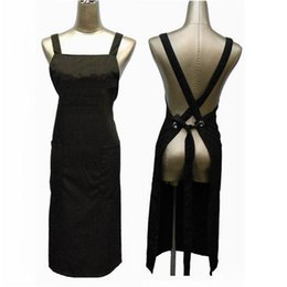 Hair Apron Home Kitchen Apron Barber Dress Apron Memory Fabric Red Blue Black Color 20piece per Lot DHL Free Shipment