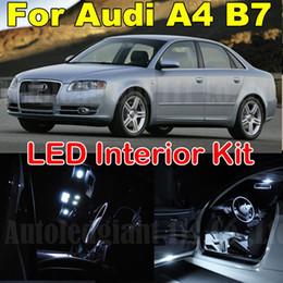 Wholesale Canbus Led Audi A4 - 18pcs White Canbus Error Free Interior Lighting Package for Audi A4 S4 RS4 B7 LED Interior Light kit 2005 2006 2007 2008 2009