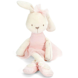 FG1511 1pc 45cm Cute Rabbit with Pink Dress Baby Plush Toy Soft Ballet Bunny Rabbit Doll Kids Comfort Doll Best Gift for Children