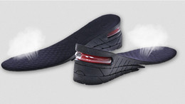 Wholesale 2015 Newest Men s Shoe Insole Layer Air Cushion Heel insert Increase Taller Height Lift For Adult Hot Sale Shoes Insole SKY017