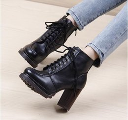 Wholesale-Summer Boots Time-limited 2015 Skid Winter Boots Women Martin Thick With High-heeled Shoes Single Ladies Short Knight