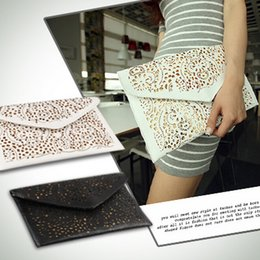 Wholesale New Womens Envelope Clutch Chain Purse Lady Handbag Tote Shoulder Hand Bag Hollow out Messenger bags colors
