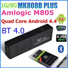 Wholesale MK808B Plus Amlogic M805 Mini TV Dongle Quad Core Android TV box G RAM G ROM H Hardware Decode Bluetooth DLNA Miracast Android pc