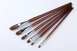 128 Professional Artist Oil Paint Brushes Sets 6Pcs set Oil Paint Brushes Sets best popular oil artist paint brushes set art
