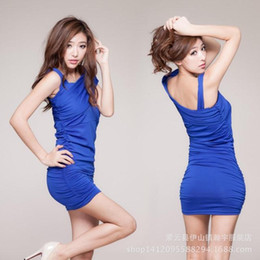 Slim sexy nightclub installed oblique package hip tight dress performance clothing DS night games
