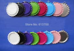 Wholesale With Holes and Rings Colored Flattened Bottle Caps Flat Bottle Cap Flat BottleCaps Beer Crown For Jewelry Craft Pendant Necklace