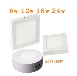 Wholesale No Cut AC v ture w w w w Round Square Led Panel Light quot quot quot Surface Mounted Led Downlight lighting AC V Drivers