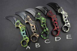 Promotion SOG Claw Karambit knife 440C 59HRC blade G10 Handle Folding blade knife EDC Pocket Knife Cutting tool E114L