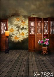 Wholesale 300cm cm vintage family portrait Screen Lamp floor flower skychristmas damask doors scenic backdrop YL