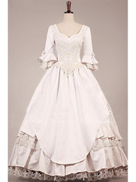 Wholesale VINTAGE VICTORIAN WEDDING DRESS new style Vintage Wedding Dresses A Line Lace Bridal Ball Gowns Dresses