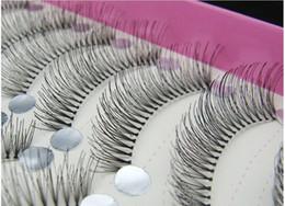Promotion cils de scène 50 paires réutilisables main faux cils et populaire paragraphe nature désordre Stem Transparent Maquillage de scène