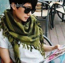 Foulards en coton de marque de gros à vendre-Vente en gros-Designer 2pcs / lot 100% coton Hommes et femmes chaudes de vente Shemagh militaire arabe tête châles foulards châles