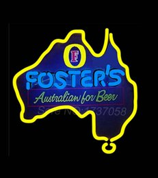 Wholesale Fosters Australia Neon Beer Sign Store Display Avize Neon Nikke Air Jorrdan Neon Sign Real Glass Tube Custom Design LOGO