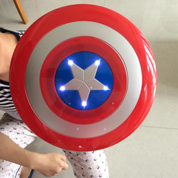 LED Light Sound America Captain Shield Kid Cosplay Avengers Weapons Costume Carnival Halloween Party Mask free shipping