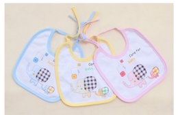 Wholesale 2015 New Arrival Pure Cotton Lace Baby Bibs Baby Bandages Bibs With Best Quality Random Delivery