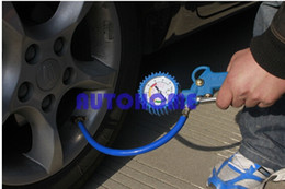 Wholesale 5 X New psi Van Truck Car Bus Tyre Tire Air Line Inflator Dial Pressure Meter Gauge Compressor order lt no track