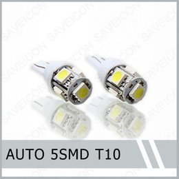 Wholesale 20 x T10 Xenon White Wedge SMD LED Light bulbs For License Plate Lights W5W By Post Air Mail order lt no t