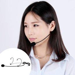 Wholesale Uni Directional Head mounted Headworn Headset Ear hook Microphone Mic Flexible Wired Boom for Voice Amplifier Amp Loudspeaker