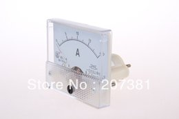 Wholesale New Analog AMP Panel Meter current Ammeter DC A C1 Shunt