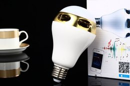 Smart Colorful LED bulb Bluetooth speaker APP control timing lights for iPhone 5 5S 6 6piPad