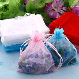 Drop Shipping Wholesale 100Pcs Multi-color 10x12cm Organza Bag Jewelry Bag Organza Pouch Bag, Christmas New Year Birthday Wedding Gift Bags
