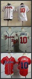 Wholesale youth atlanta braves chipper jones Cheap Wholesales Baseball Jersey Embroidery Name and Logo EME DHL