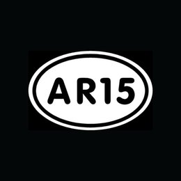 Wholesale Car Stickers Ar15 Sticker White Oval For Car Window Truck Vinyl Decal Gun Rifle Arms Rights Ammo Ar-15