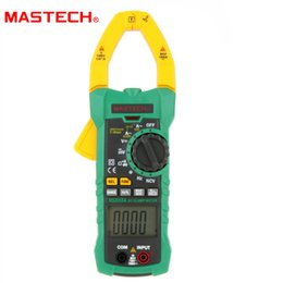 Wholesale Digital AC Clamp Meter Clamp O n Meter Meters Frequency Resi stance Capacitance Multimeter Mastech for MASTECH MS2015A