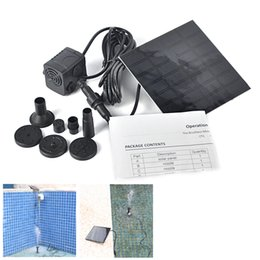 Wholesale Submersible Pond Pool Water Cycle Garden Plants Watering Kit Solar Power Fountain Soar Pump Water Pump Aquarium Pumps