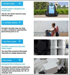 Wholesale Lithium Battery Oxygen Concentrator DC AC Power for Medical Healthcare Home Car Travel Use Mini Portable O2 Generator Free shiping