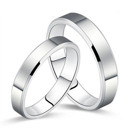 Wholesale-2015Newest!!! Men's Ring fashion Stainless Steel Gloss Couple Bands Wedding Rings For Men And For Women Freeshipping
