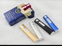 Wholesale Froseed Aluminium alloy Lighter USB Charging Lighter Easy carry Creative Personality Men USB Lighter Second generation upgrade
