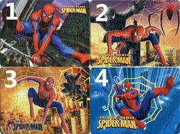 40pcs pack Spiderman Puzzles 4 Style For Choice Spiderman Characters Pattern Children Education Games Toys For Kids Gift H0343b