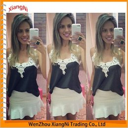 Wholesale Lace Tank Top Bodycon Dress - New Complex Gulei Sexy Black Lace Chiffon Halter Top Shirt Fight Bodycon Women Dresses Summer Style Dress Clothes Tanks & Camis order<$18no