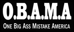 Wholesale Car Stickers Obama One Big Mistake Bumper Sticker Republican Anti Car Decal