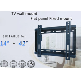 Wholesale TV Wall Mount HDTV Flat Panel Fixed Mount Flat Screen Bracket with VESA Compatibilityfor quot quot Screen LCD LED Plasma TV V1405