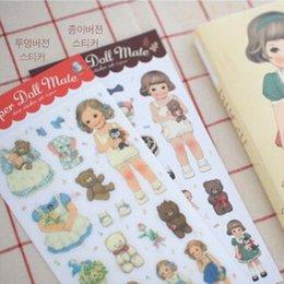 Wholesale Cute Sticker Dress - 6sheets set,6sets of Paper PVC Kawaii Cute Dress Up Girl Sticker,Promotion Paper Doll Mate Sticker for Kids
