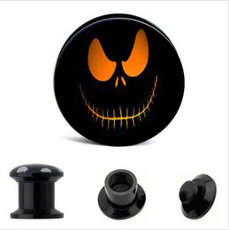 Acrylic Nightmare factory sales Ear Gauge Plugs And Tunnels Stretcher Expander 4-16mm Double Flared Screw Fit Plug