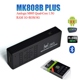 Wholesale Original MK808B Plus Android HDMI TV Stick TV Dongle Amlogic M805 Quad Core GB GB Mini PC Bluetooth XBMC Miracast DLNA V893
