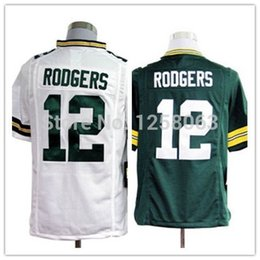 Wholesale Factory Outlet Exclusive High Discount Sales Aaron Rodgers White Green Men s Authentic Game Football Jerseys Size S XXXL Mix order