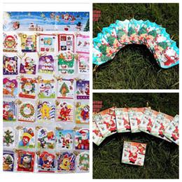Tarjetas de navidad baratos en venta-5 * 6cm 2.016 creativo Pequeño plegables saludo Deseos Tarjetas de Navidad Tarjetas de Navidad Sobre ornamento de navidad Navidad Proveedores baratos