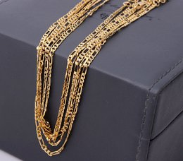 Wholesale k gold chain kgf figaro chain cheap inch chain stamped kgf suport inch oem