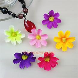 100PCS 8colors 3cm Artificial silk daisy flower heads diy hair hat accessory wrist corsage wreath garland decoration