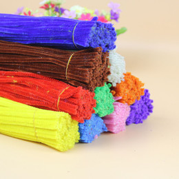 Wholesale FUZZY PIPE CLEANER STEMS Chenille Craft Stems Creative Arts Chenille Stem Pipe Cleaners quot cm Random Color