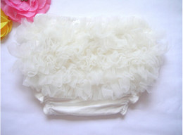 Ivory Soft Baby Ruffle Cute Chiffon Girls Bloomer Cotton Baby Girls Diaper Cover Cheap Underwear 5pcs lot
